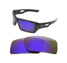 NEW POLARIZED CUSTOM PURPLE LENS FOR OAKLEY EYE PATCH 2 SUNGLASSES